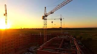 ЖК Березки Хабаровск облет 27 мая 2017 Этап строительства 5 этаж