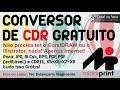 CONVERSOR DE CDR GRATUITO para Eps PDF AI e JPG sem CorelDRAW nem Illustrator
