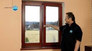 Ovládání otvíravě-sklopného okna s kováním MACO