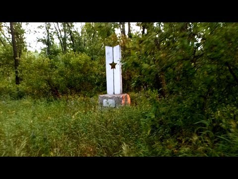 Могила в селе и памятник в лесу борцам за Советскую власть