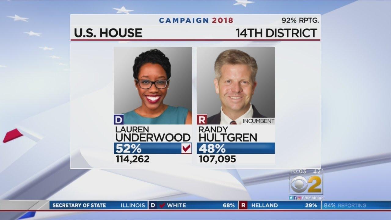 Mid Term results: Lauren Underwood Defeats Hultgren in 14th District Upset