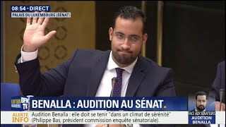 En intégralité, l'audition d'Alexandre Benalla  devant la commission d'enquête au Sénat