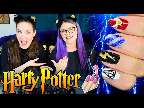 Harry Potter nail art on my only friend Corinne aka Threadbanger