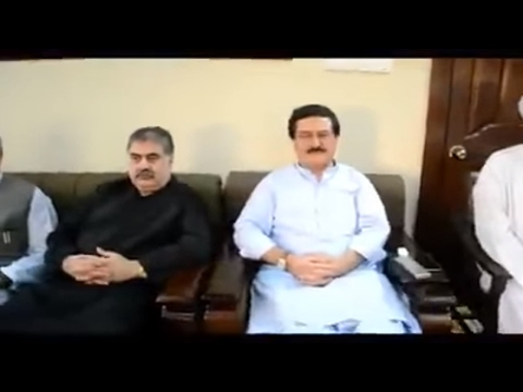 CM Balochistan Nawab Sanaullah Zehri, In Fateha Of Riaz Khan Jogezai in Pashton kor Quetta