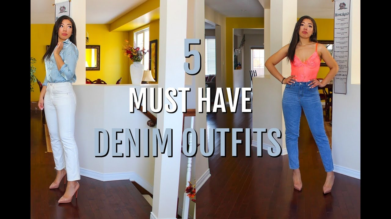 SPRING OUTFITS ON A BUDGET - How to Style Jeans | DENIM BASICS & MUST HAVES