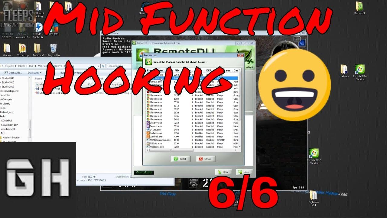 C++ Mid Function Hooking Codecaving Tutorial Pt 6/6