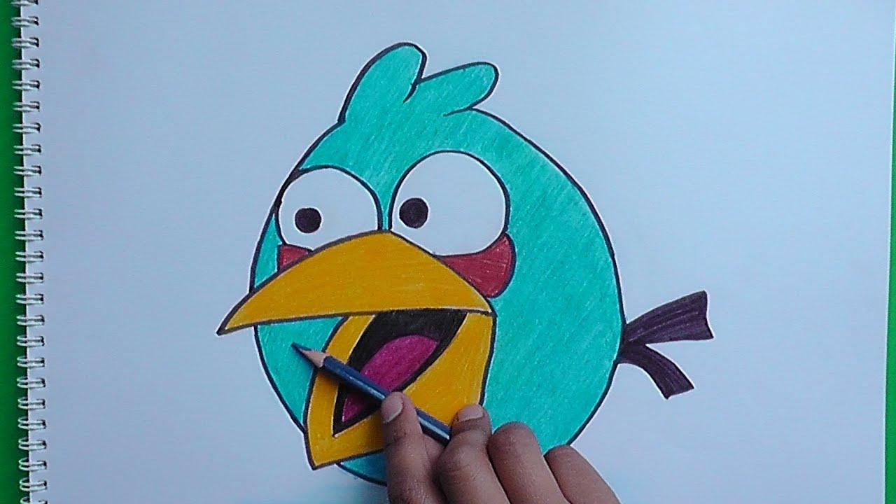 Dibujar A Jay Jake Jim Pajaro Azul (Angry Birds)