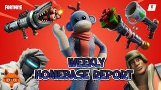 Weekly Homebase Status Report 25/12/19 Fortnite STW