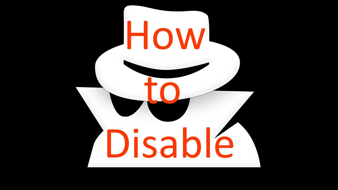 How to delete incognito