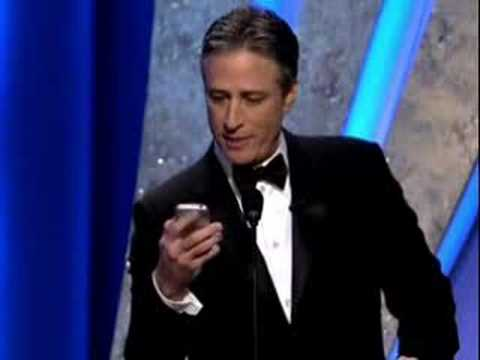 Jon Stewart and IPhone @ Oscars 2008