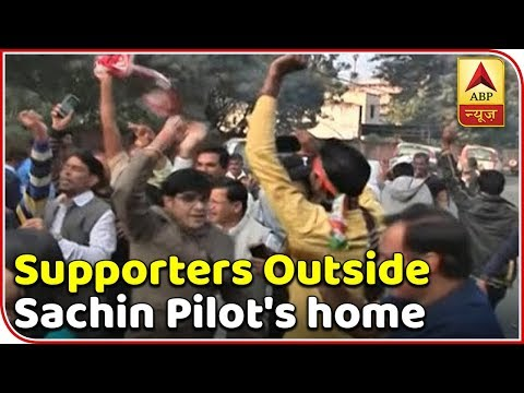 Congress Supporters Celebrate Outside Sachin Pilot's Home | ABP News