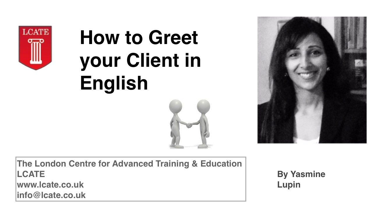 English For Lawyers How To Greet Your Client In English Youtube
