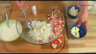 Sałatka z makaronem ryżowym i surimi - TalerzPokus.tv
