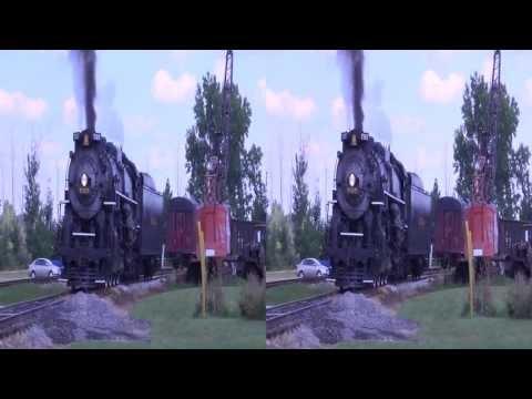Nickel Plate Road Steam Locomotive in 3D SBS HD 1080p filmed on August 18th 2013 Public