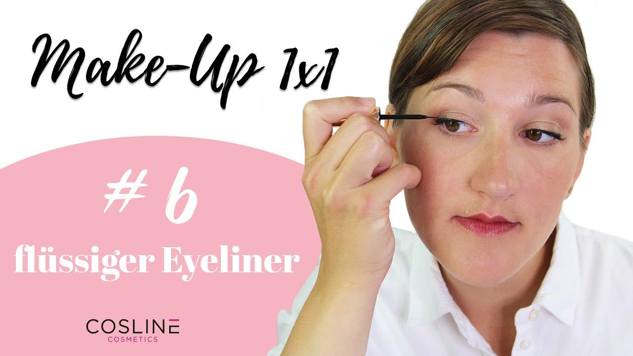 Flüssiger Eyeliner schminken – Make Up 1x1