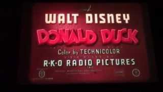 #601 16mm Walt Disney Blue Track IB TECHNICOLOR Cartoon WINTER STORAGE with Donald Duck