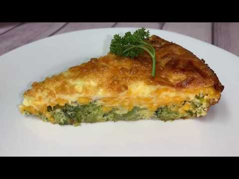 Crustless Broccoli QuicheSimple & Easy Brunch Idea
