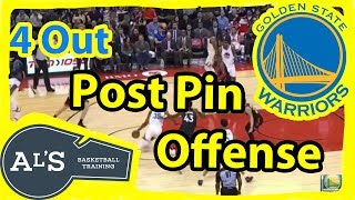 Golden State Warriors Weakside Post Pin Basketball Play