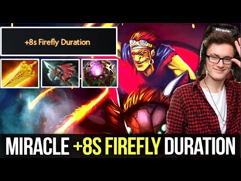 Miracle- Batrider Nonstop Firefly LVL 25 Max. Talent Tree +8s Firefly Duration - Dota 2