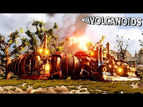 Drilling into Area 2 with an Upgraded Drill Ship! - Volcanoids Gameplay
