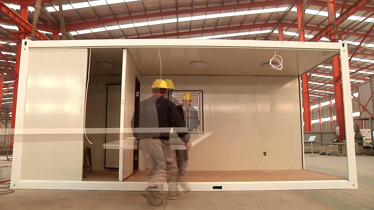 Flatpack House 20ft Flatpack Container House Youtube