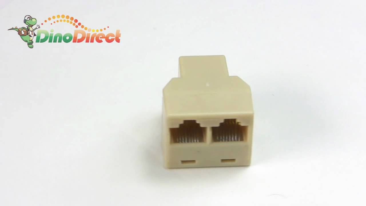 RJ45 3 Way Network Cable Splitter Plug / Extender Coupler from ...