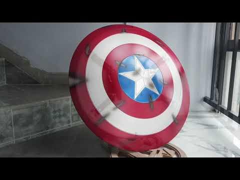 Captain America Steve Rogers Shield Metal Replica Cosplay Prop