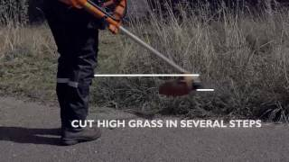 How to handle high dense grass with your Husqvarna brushcutter