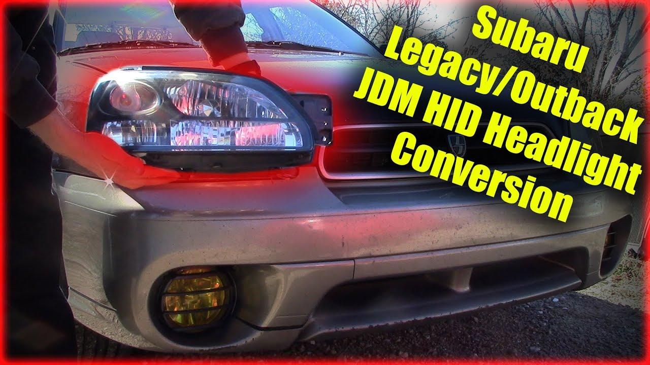 subaru legacy outback jdm headlight conversion [ 1280 x 720 Pixel ]