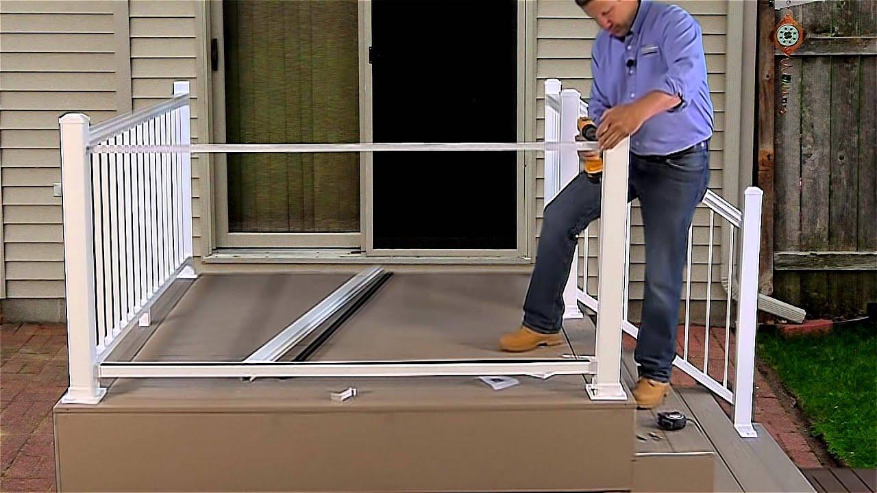 Harmony Railing Full Glass Panel Installation Youtube