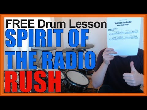 ★ The Spirit Of Radio (Rush) ★ FREE Video Drum Lesson | How To Play FILL (Neil Peart)