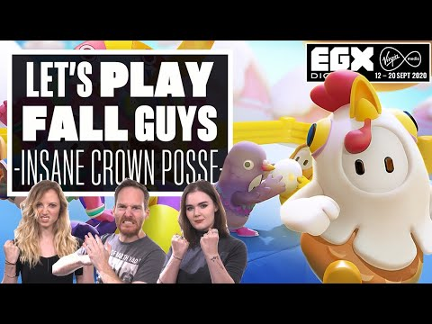 Let's Play Fall Guys: Ultimate Knockout - INSANE CROWN POSSE! - EGX DIGITAL 2020