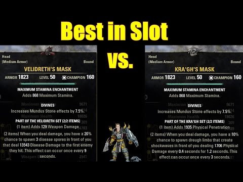 Best in Slot Velidreth vs Kra'gh | Stamina DPS monster helm in One Tamriel?