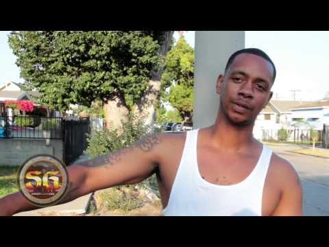 Mister CR Eastside Hustler Crip on 107th & Towne, Eastside Los Angeles
