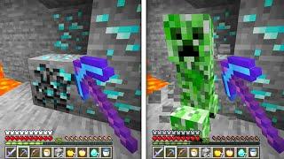 Minecraft UHC but mining blocks spawns mobs...