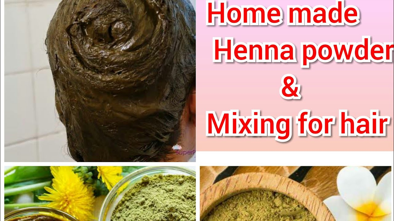 Home made henna powder and henna mixing for grey hair ...