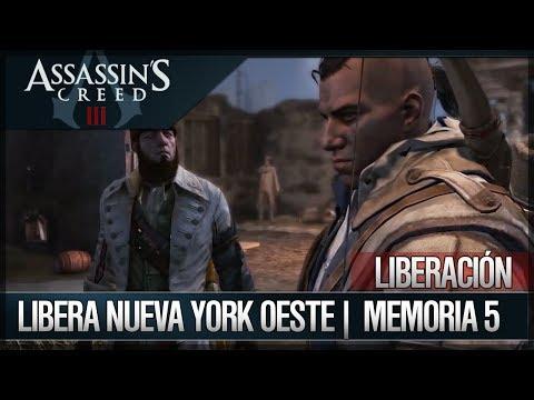 Assassin's Creed 3 - Walkthrough Español - Misiones Liberación - Libera Nueva York Oeste [100%]