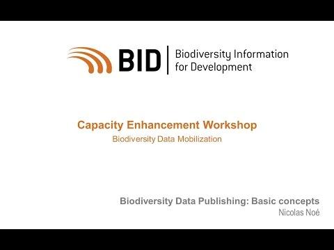 BID Workshop - Activity VIII.01 Part 01 - Basic concepts about Biodiversity Data Publishing