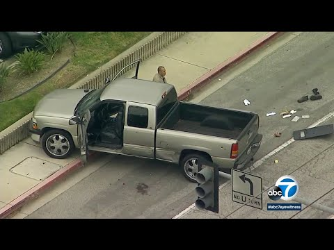Long Beach deputy-involved shooting: 2 suspects in stolen truck wounded in gunfight I ABC7