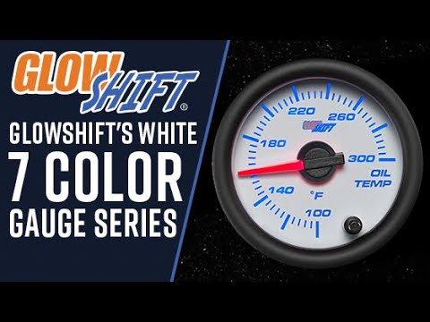 White 7 Color Dual Intake Temperature Gauge
