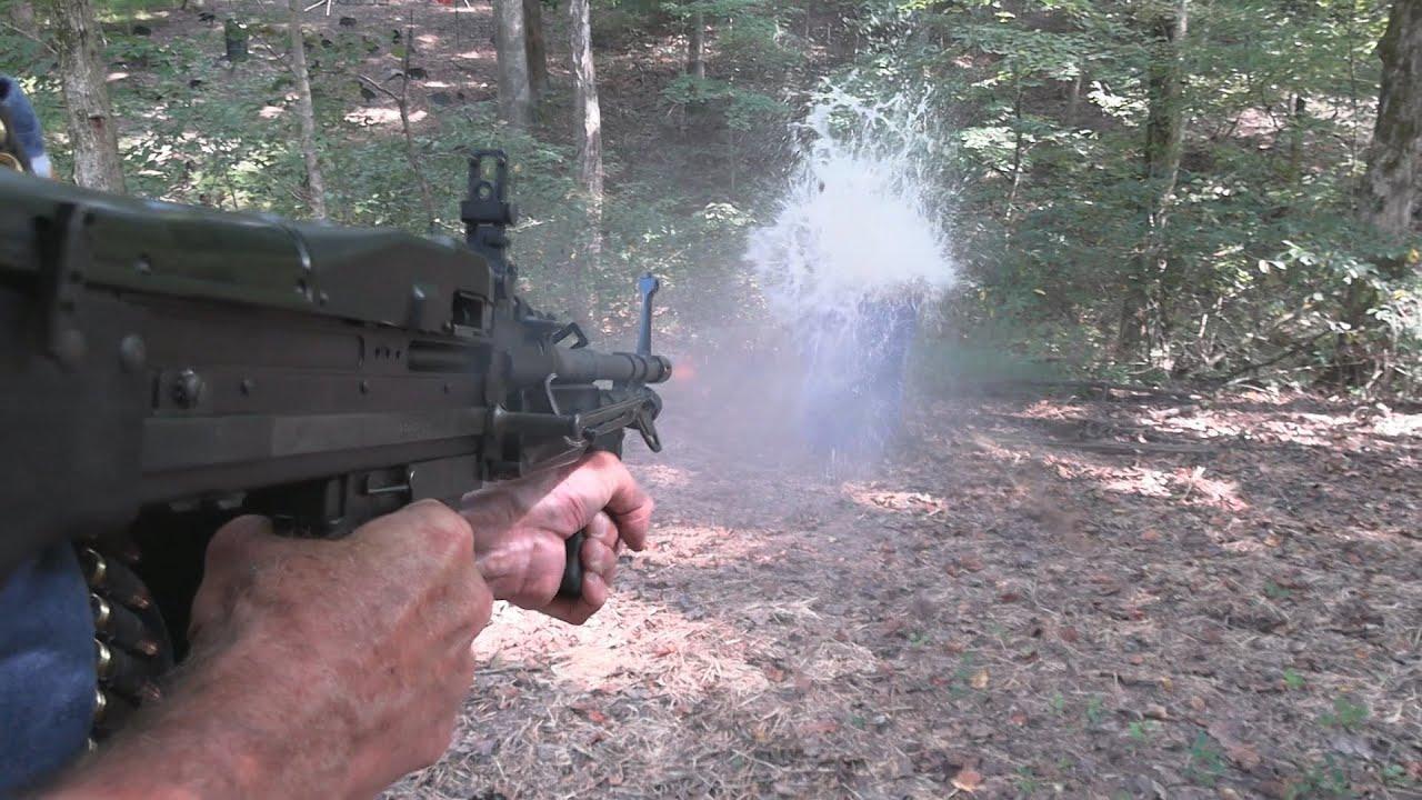 M60E3 vs Water Barrel