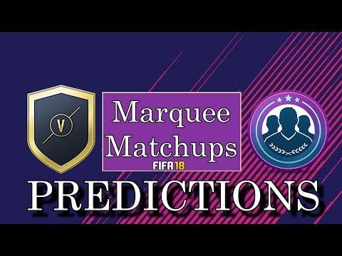 MARQUEE MATCHUPS PREDICTIONS WEEK 10 (28th November - 5th December)