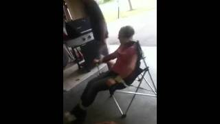 Girl Tied To Chair!