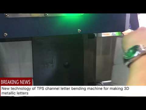 TPS new technology- 3D metallic letters
