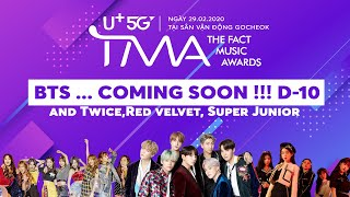 BTS ... Coming Soon !!! D-10 and Twice,Red velvet, Super Jun…