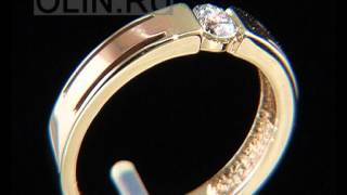 Мужское обручальное кольцо с бриллиантом(Желтое и красное золото 585 пробы. 1 бриллиант Кр57 весом 0,21 ct (характеристики 5/3A). Ширина шинки кольца составля..., 2013-02-01T07:49:36.000Z)