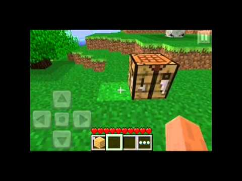 Minecraft Pe How To Make Crafting Table Youtube
