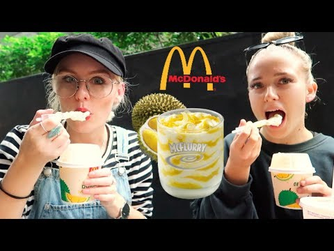 FOREIGNERS TRY MCDONALDS DURIAN MCFLURRY! - 동영상