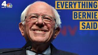 Everything Bernie Sanders Said During the Democratic Debate in Atlanta   NBC New York