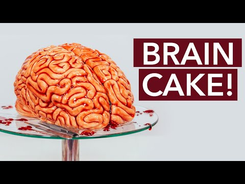 Human Brain Made Out Of CAKE! | Halloween Party Cakes | How To Cake It with Yolanda Gampp